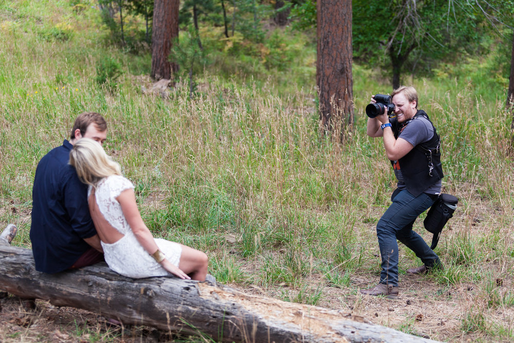 Josh shooting an engagement session at Lookout Mountain here in Colorado!