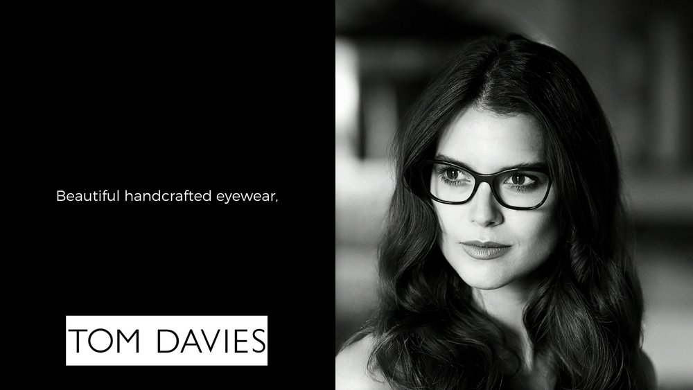 Beautiful handcrafted bespoke eyewear by tom davies - exclusively available at eye-bar in sherwood park