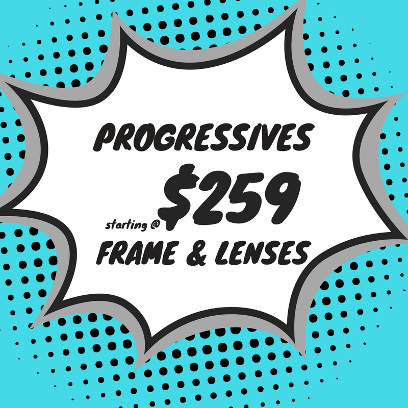 progressive safety eyeglasses (Frame & lenses) starting at $259