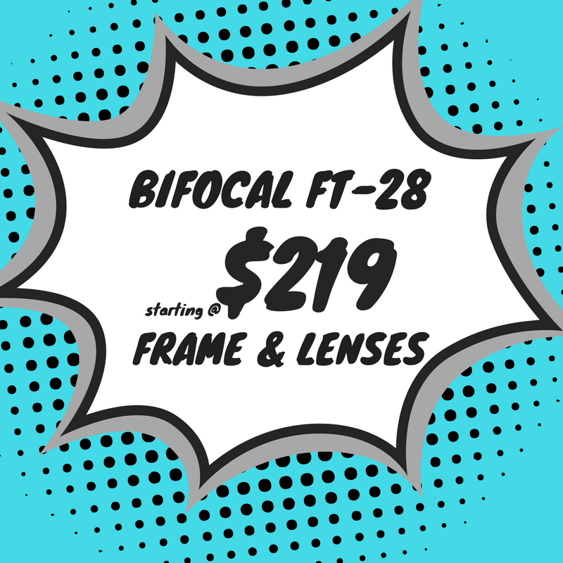 Bifocal safety eyeglasses (frame & Lenses) starting at $219