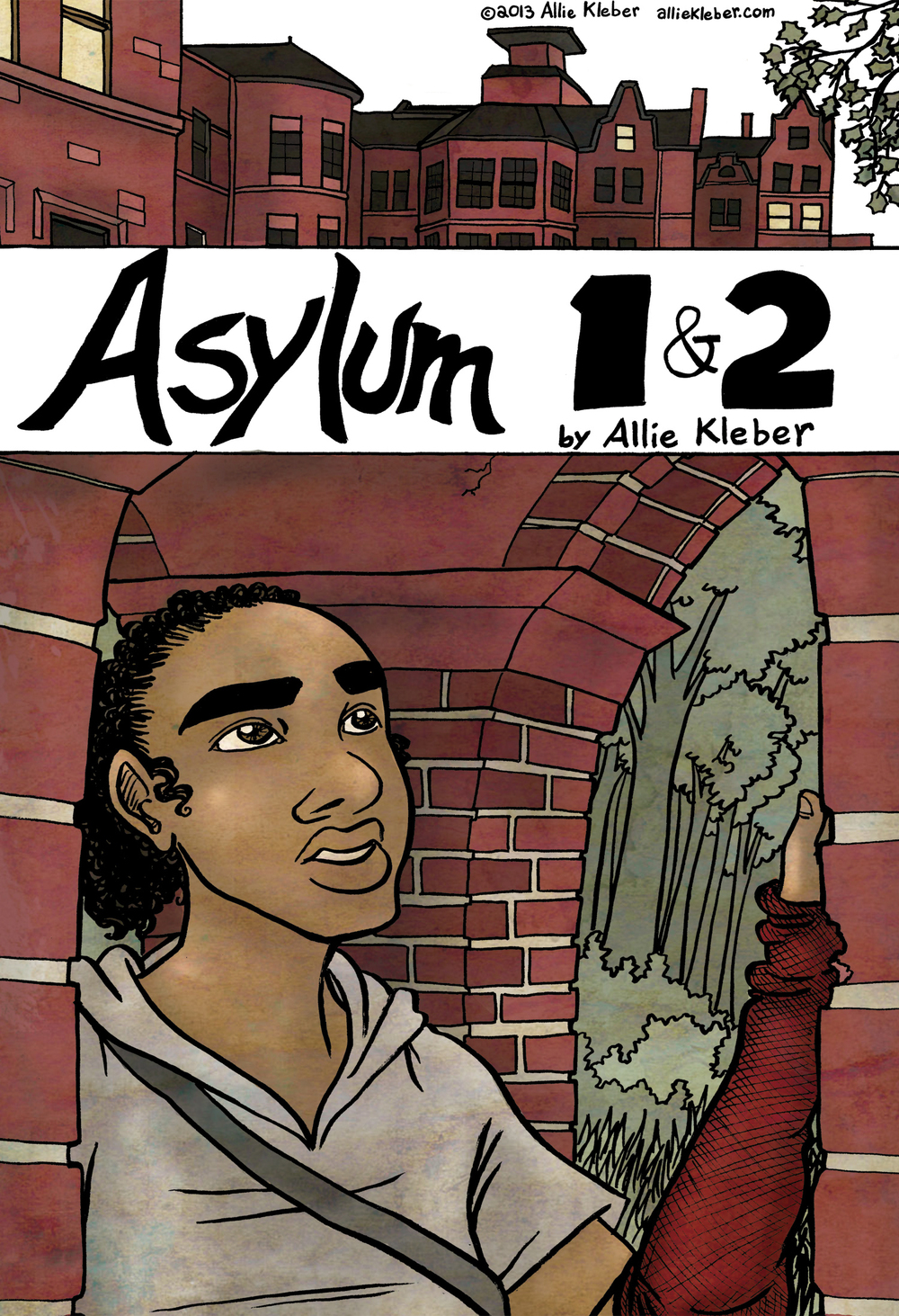 A  sylum   is a graphic novel project, still in its conceptual stages: the story of a young woman who finds herself joining an isolated, if pleasant, community, with no memory of her life before or the outside world. This apparent safe haven hides secrets that only she will be able to uncover.  This version was created for my Masters thesis at the Center for Cartoon Studies. It is a rough draft of the opening chapters of the story.