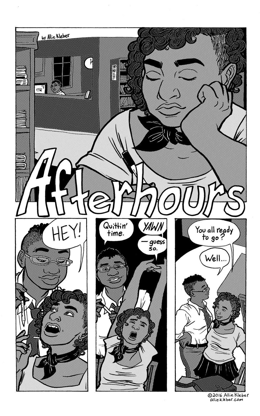 """Afterhours"" is a short piece of erotica created for   Erotic Synergy  , an anthology of erotic fiction & poetry by women and nonbinary people. (Mine is the only comic featured in the book.) NOT SAFE FOR WORK."