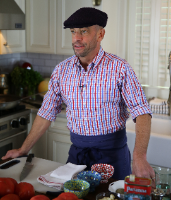 Victor filming a promotional video for McCormick Gourmet Collection.