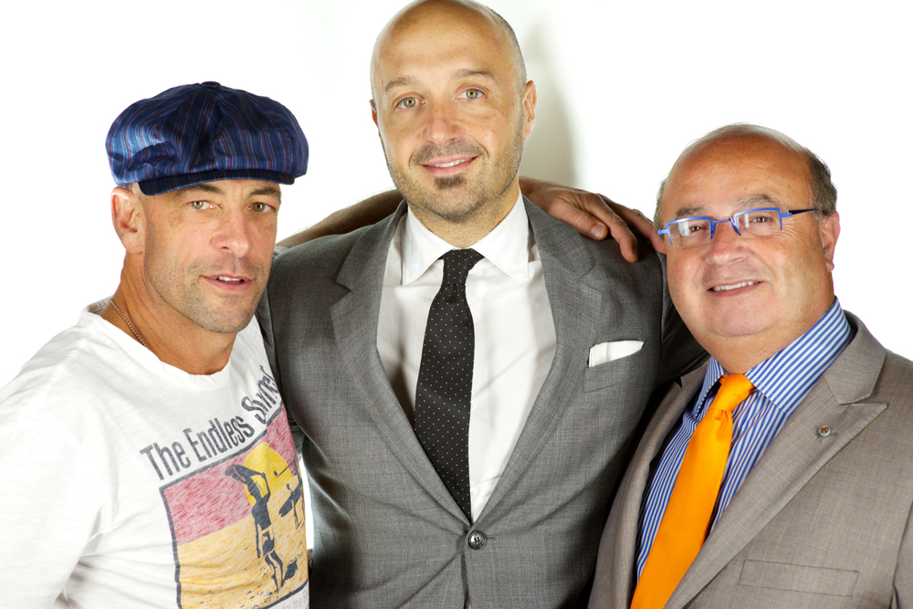 Vic Rallo with Joe Bastianich & Red Bank Mayor Pat Menna