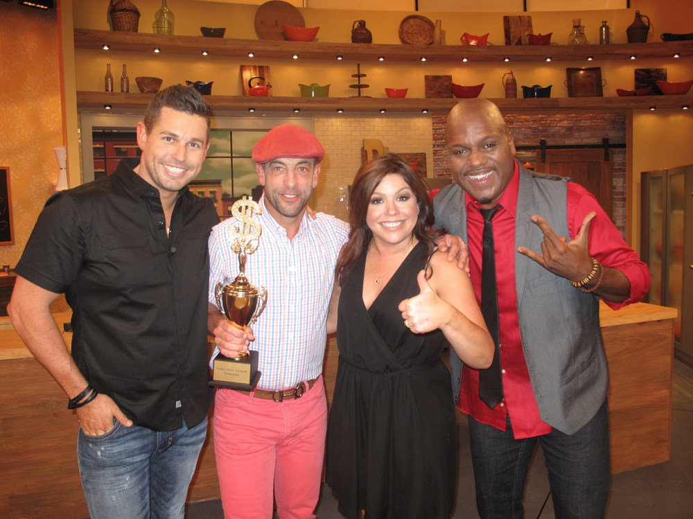 Chef Ryan Scott, Vic Rallo, Rachael Ray, Papa Joe Aviance