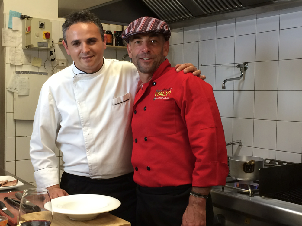Vic and Chef Massimo from Cibus Restaurant, Niscemi, Sicily