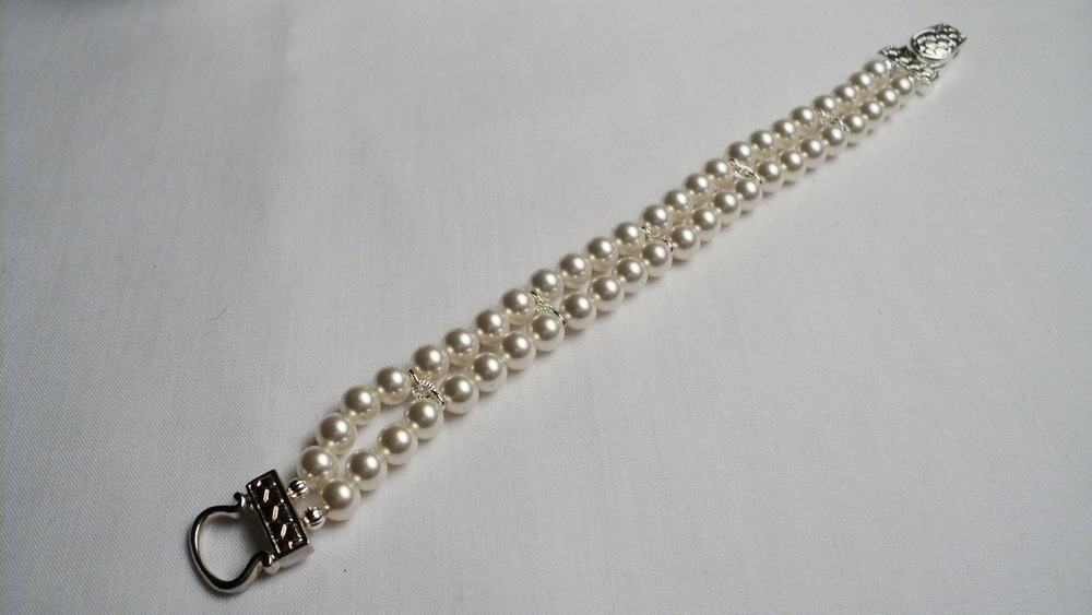 Swarovski Glass Pearl Bracelet with Silver Plated Buckle Magnetic Clasp4.jpg