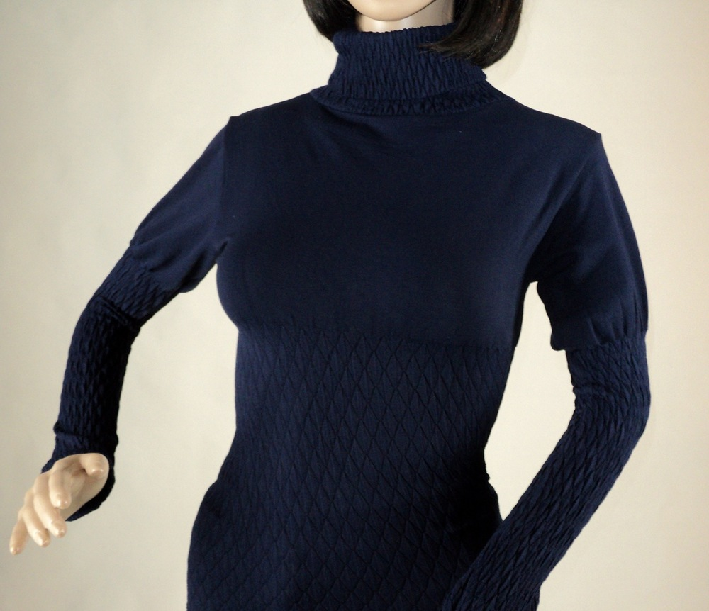 Navy Blue Turtle Neck Blouse_Front2.jpg