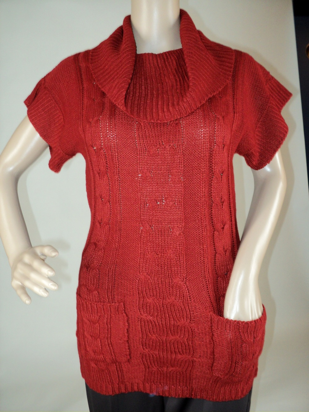 Rust Short Sleeve Sweater_Front2.jpg