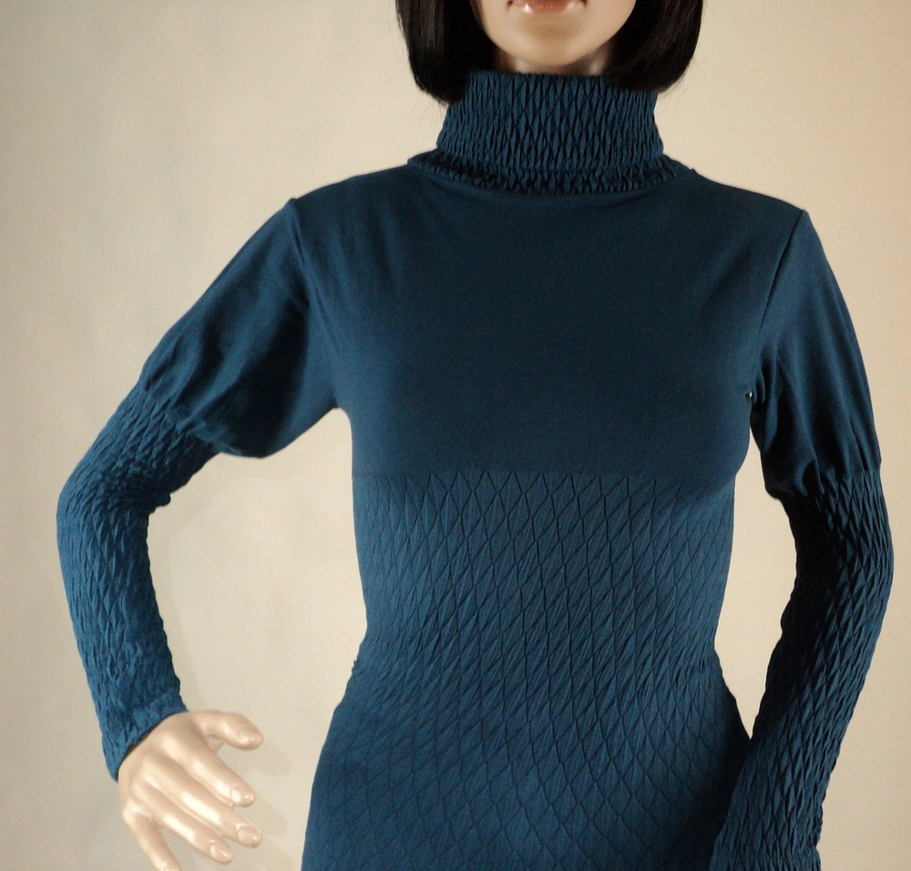 Teal Turtle Neck Blouse_Front2.jpg