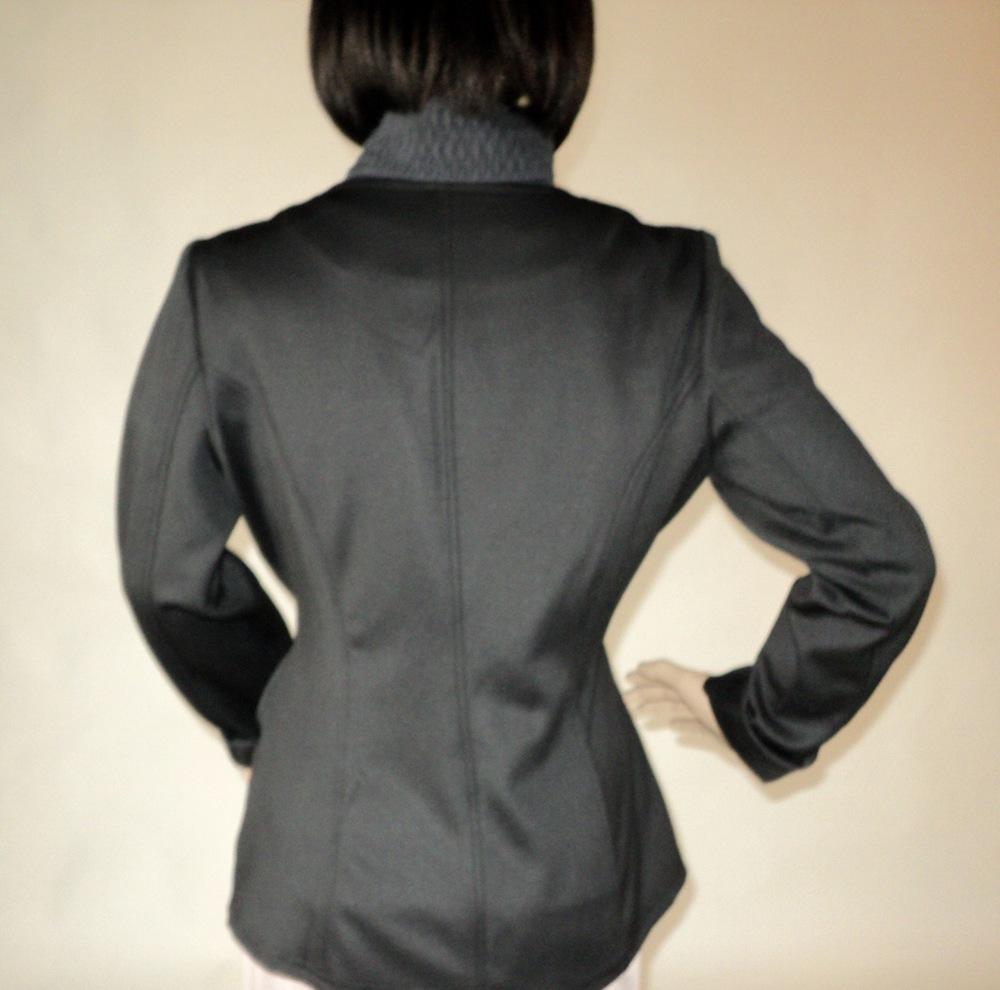 Black and Gray One Button Blazer_Back.jpg