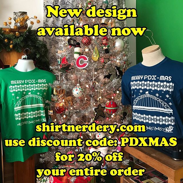 Merry PDX-MAS. New discount code lasts until the end of the year. #pdx #portland #christmassweater