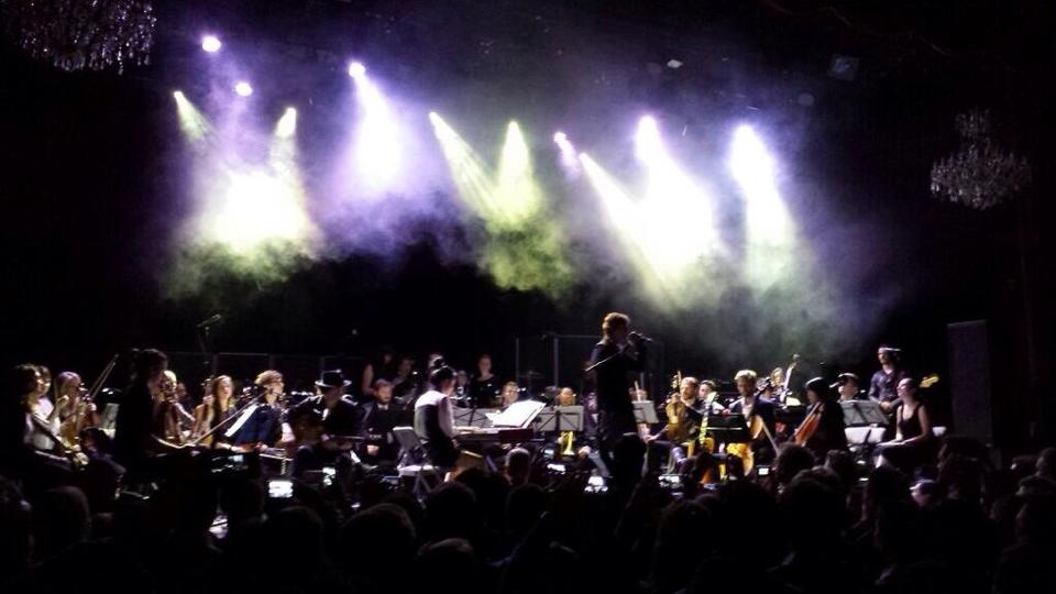 Magik*Magik Orchestra accompanies THIRD EYE BLIND at The Fillmore for a private benefit event for SF General Hospital.