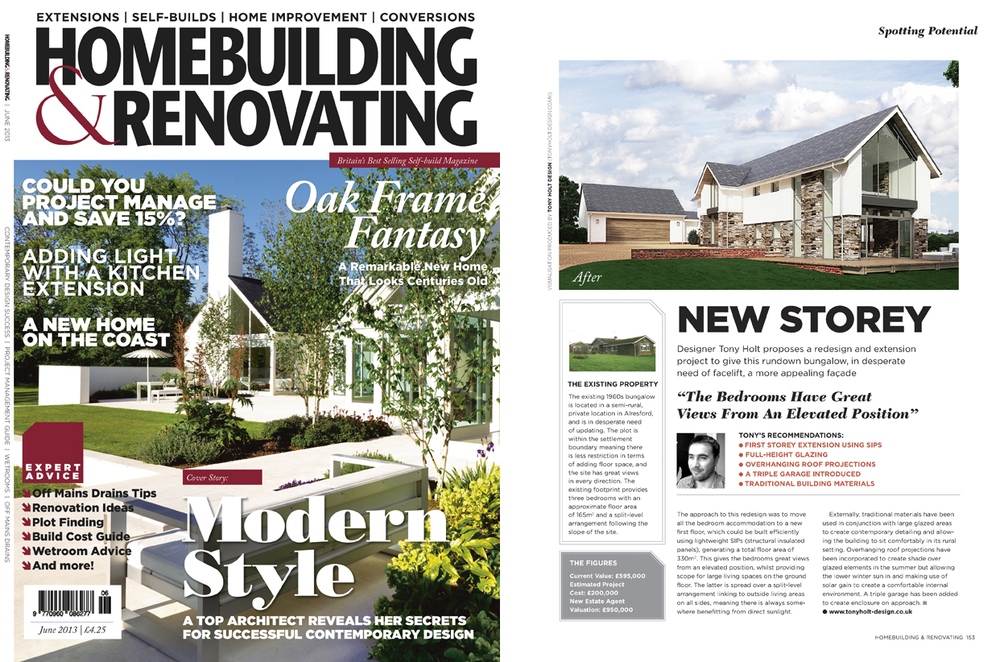 Tony holt design project in home building renovationg for Home builder magazines