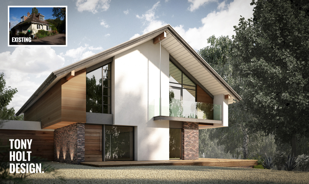 Design concept for remodel of chalet bungalow in kent for Modern house design concepts