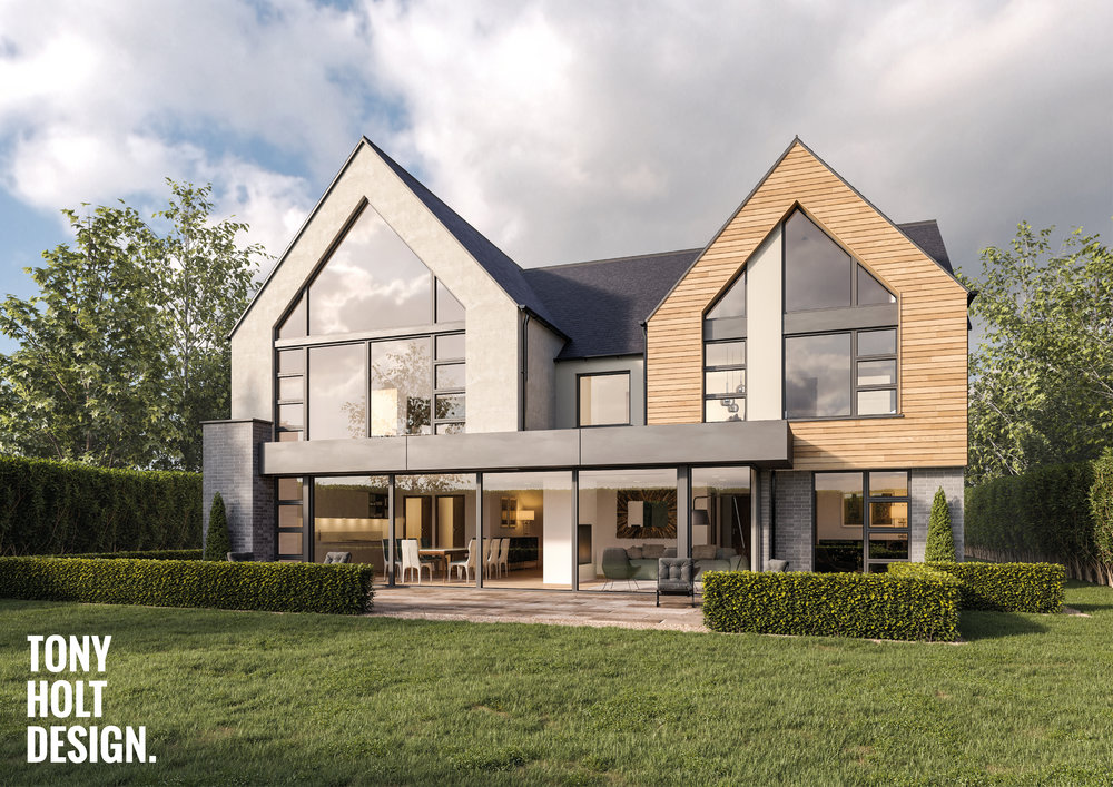 Tony Holt Design_Hunting Lodge_Self Build_New Build_Rear.jpg