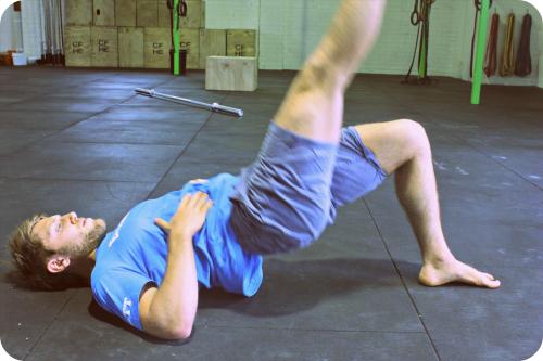 Single Leg Glut Bridge - Great for additional activation of a weak or pre injured side