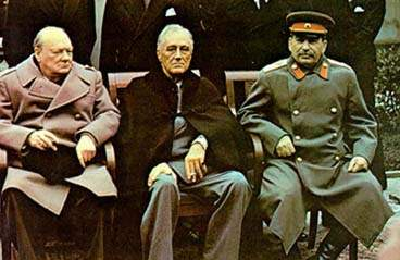 The leaders of the super-powers at the Yalta Conference