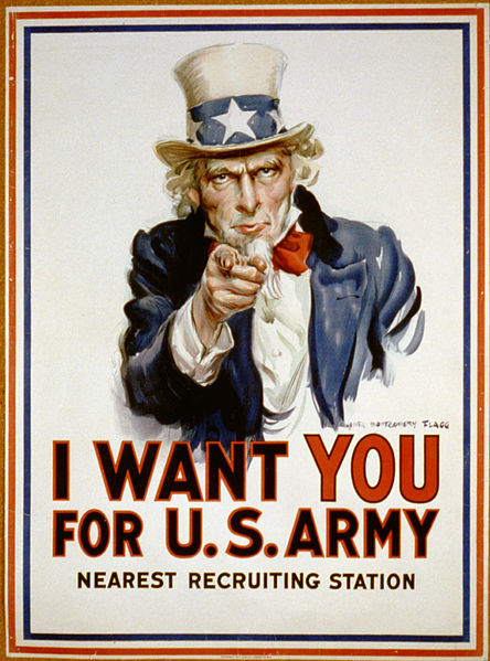 Let's be clear.. We want you to write for us! Not for the US army.