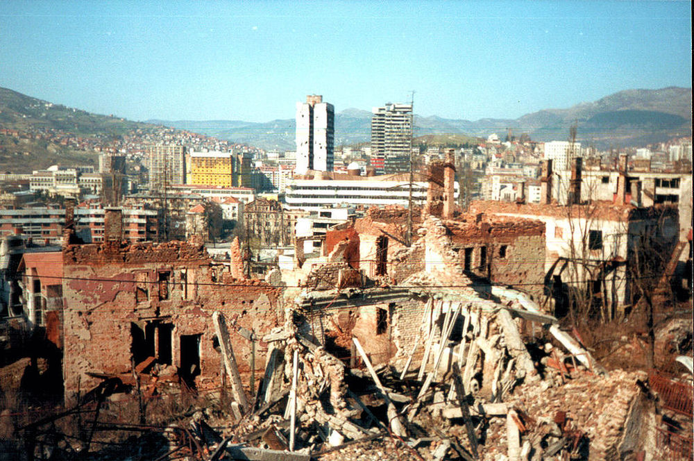 Ruins of Sarajevo, Bosnia. 1997. Following the siege of the city.