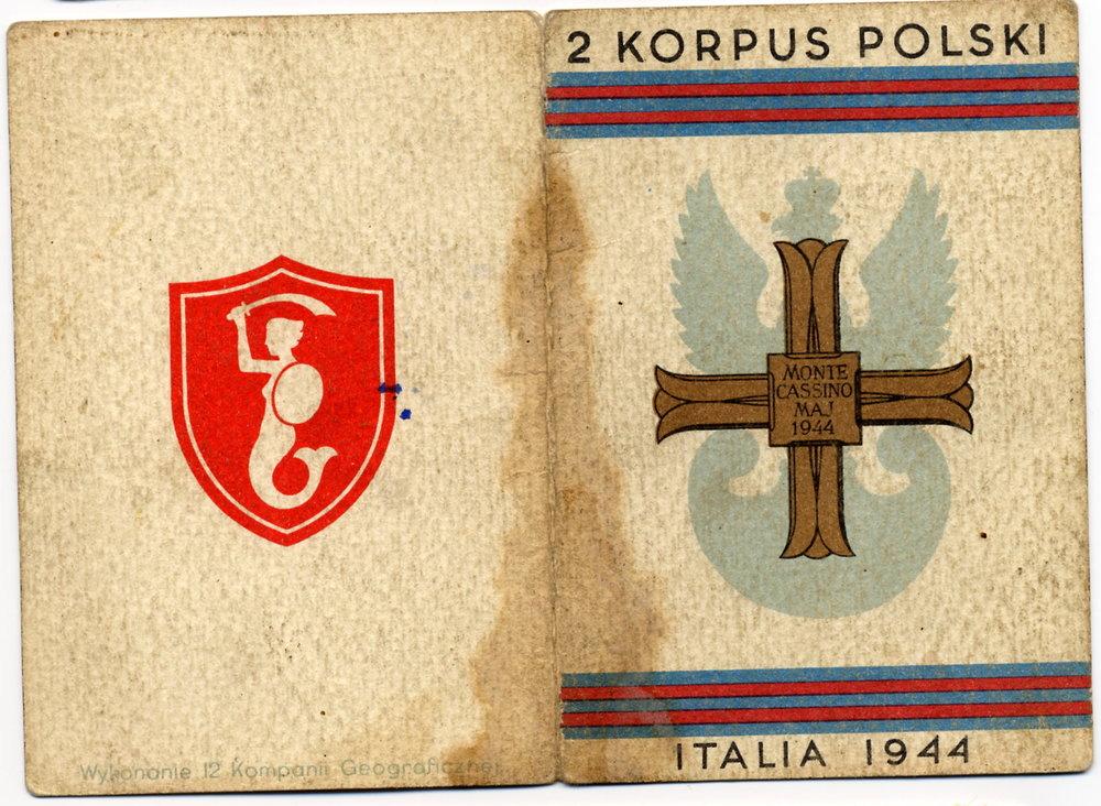 Polish Monte Cassino medal certificate