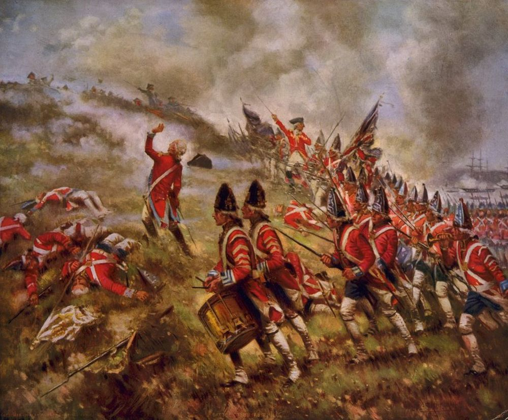 The Battle of Bunker Hill by Percy Moran (1909)