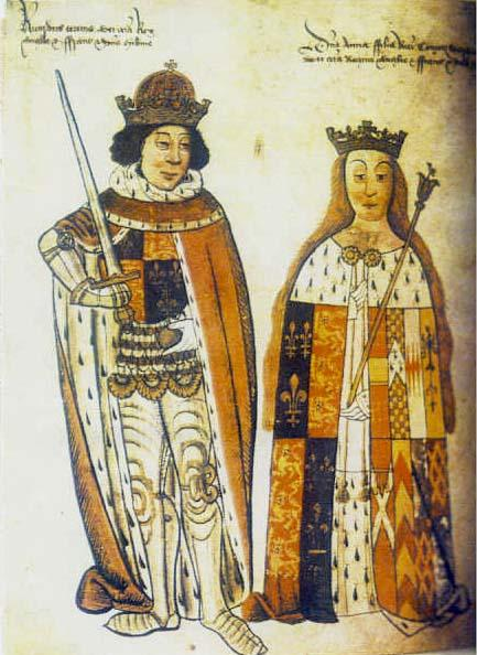 Richard Plantagenet (Richard III) and Anne Neville from the Rous Roll
