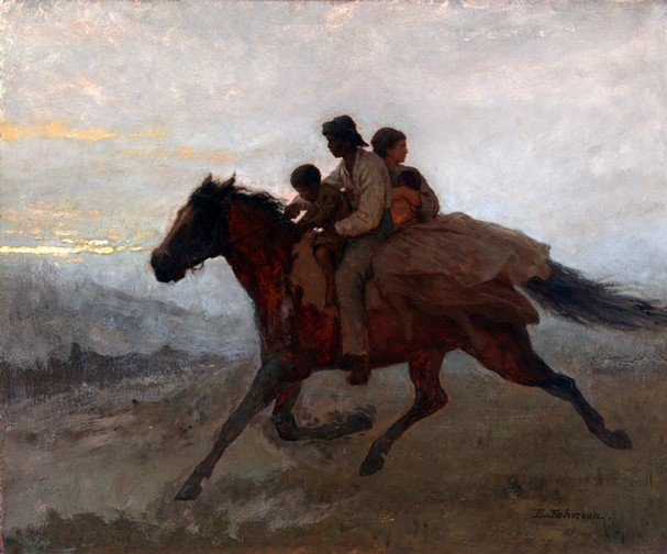 A Ride for Liberty - The Fugitive Slaves. Eastman Johnson, 1862.