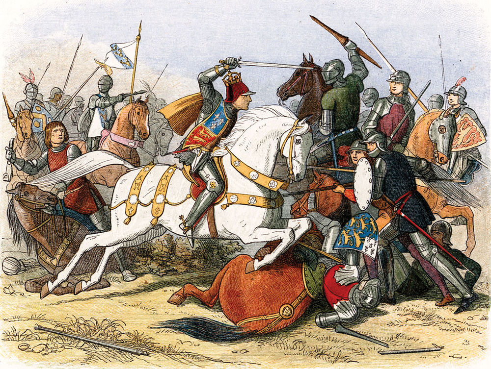 King Richard III at The Battle of Bosworth Field. By James Doyle.