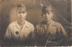 An actual photo of two young Japanese soldiers.