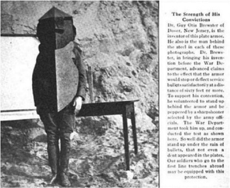 Brewster Body Armor as shown in the article.
