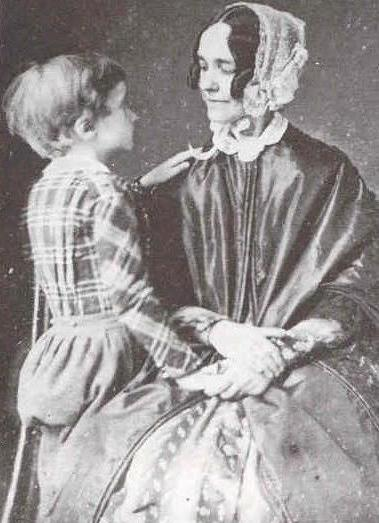 Jane Pierce with her son Benjamin.