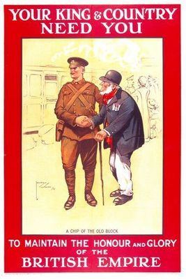 A World War I British Empire recruitment poster.