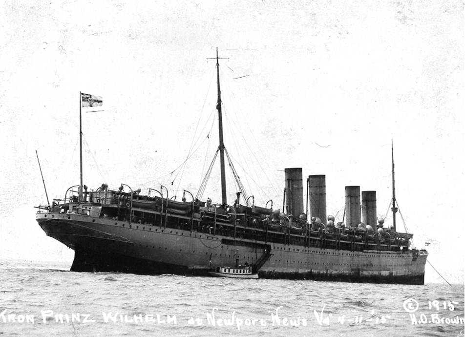 Kronprinz Wilhelm in Hampton Roads, April 11, 1915