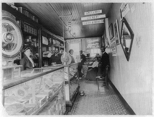Interior of 'Negro' store, Buffalo, N.Y.