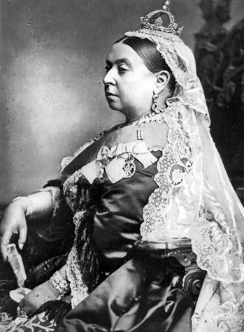 Queen Victoria in 1887. Her relatives were closely connected prior to World War I.