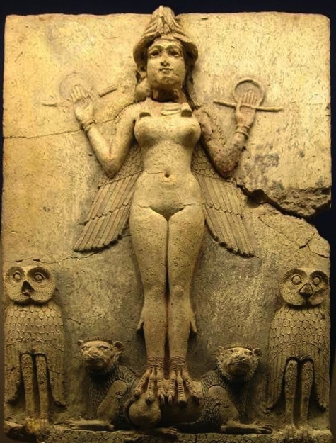 Enheduanna, Sargon's famous priestess daughter, who is depicted in the typical god-like fashion of the era.