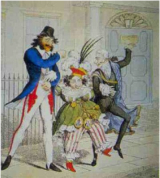 A cartoon of George IV and Caroline of Brunswick, reflecting popular opinion of the couple.