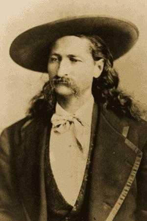 'Wild Bill' Hickok, the first legendary gunslinger, in the 1870s.