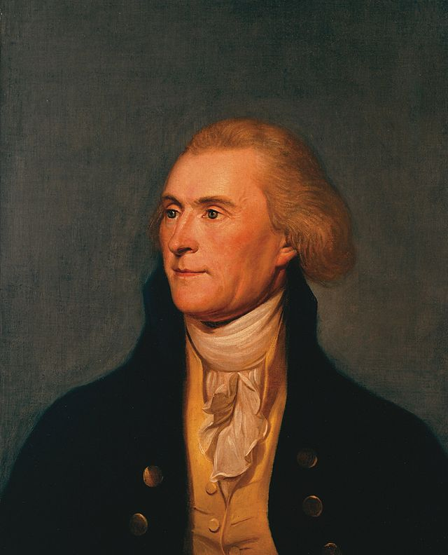 A portrait of Thomas Jefferson. Circa 1791.