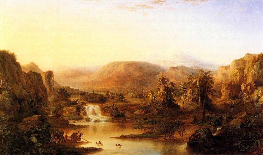 Land of the Lotos-Eaters  (1863) by Robert Duncanson.