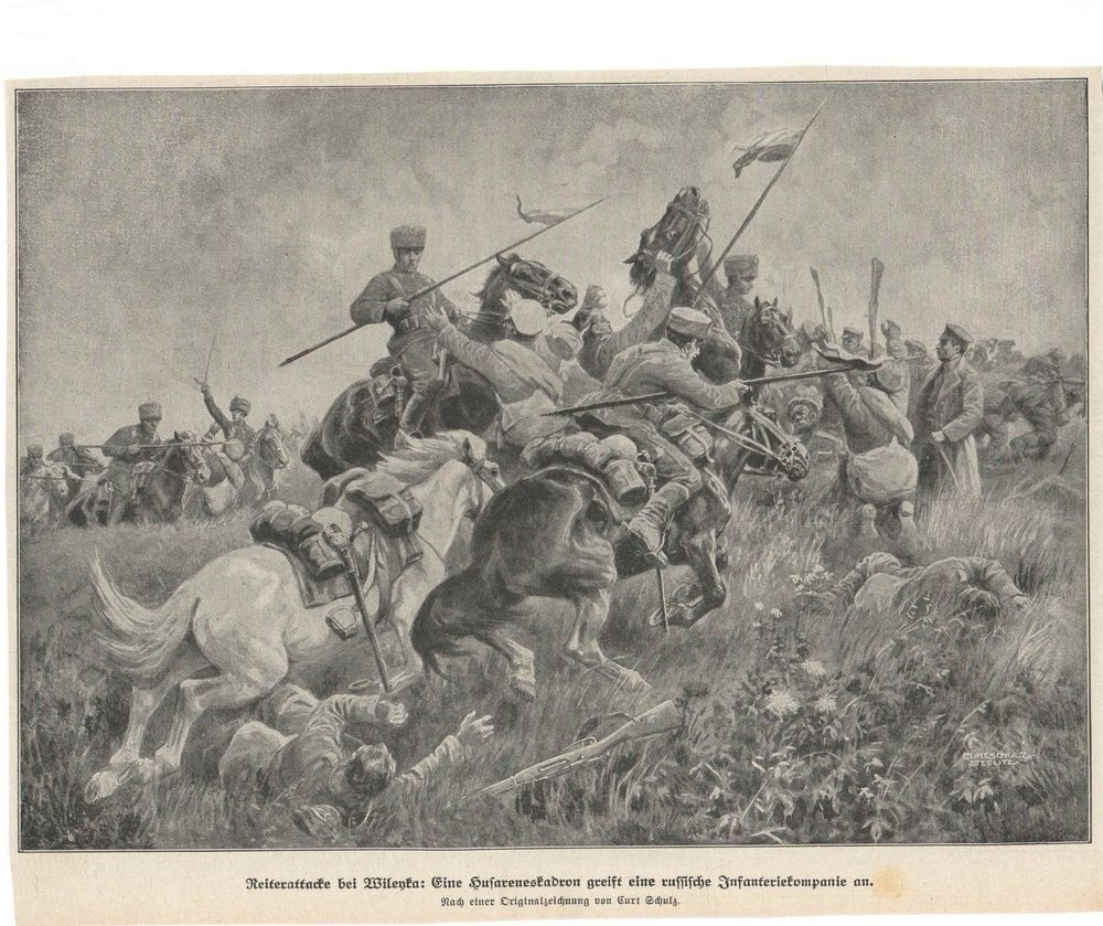 German cavalry attack at Vileyka.