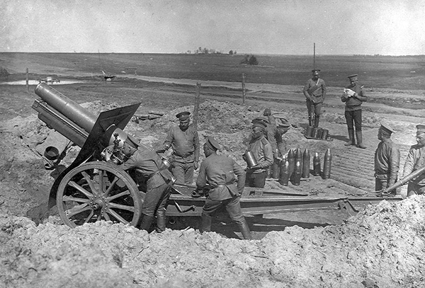 Image result for russian artillery ww1