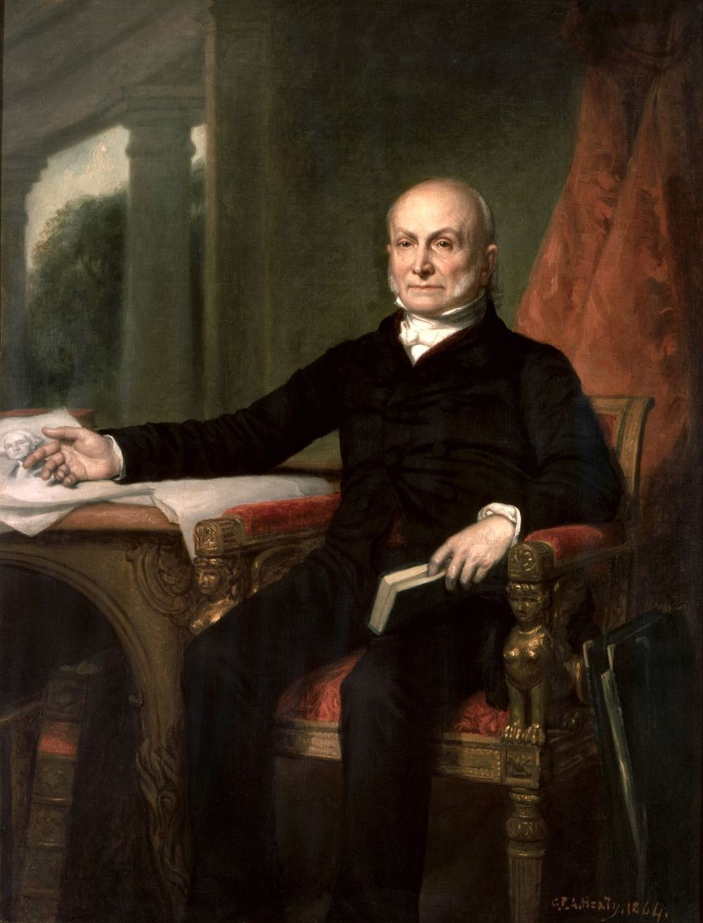 John Quincy Adams, 1858. Painting by G.P.A. Healy.
