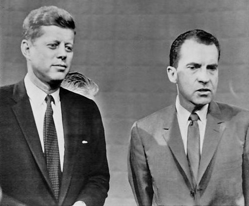 Kennedy and Nixon before the first presidential debate in September 1960.
