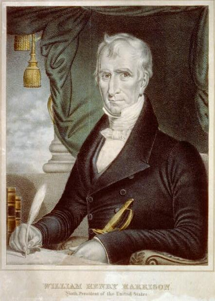 A William Henry Harrison campaign poster.