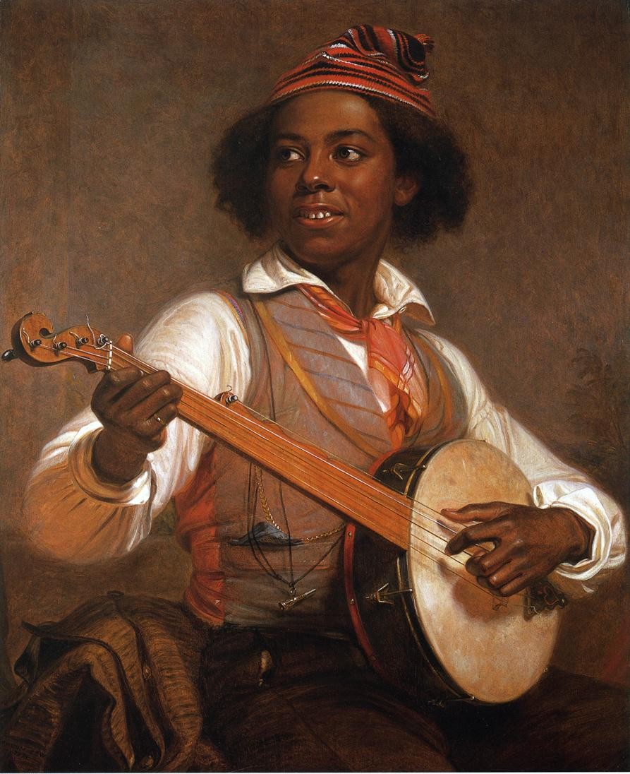 The Banjo Player , a painting by William Sidney Mount from 1856.