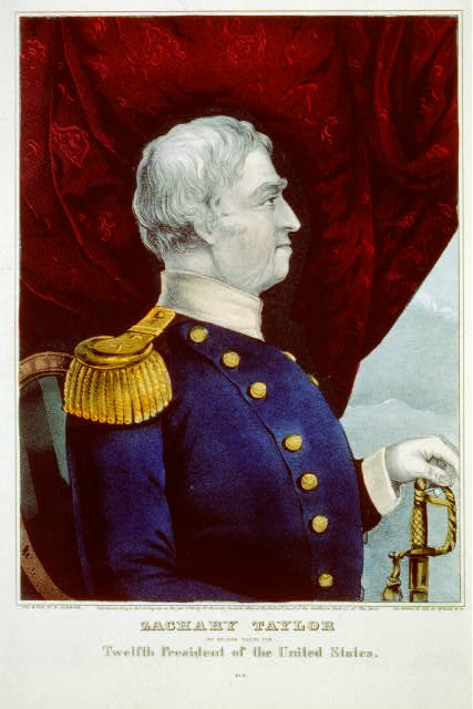 A poster of Zachary Taylor, circa 1847. He is one the presidents the White House may have helped to killed...