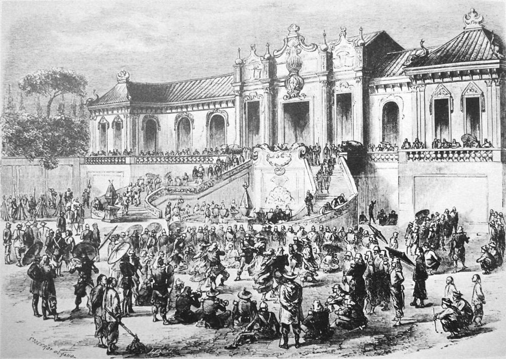 The looting of the Summer Palace by Anglo-French forces in 1860.