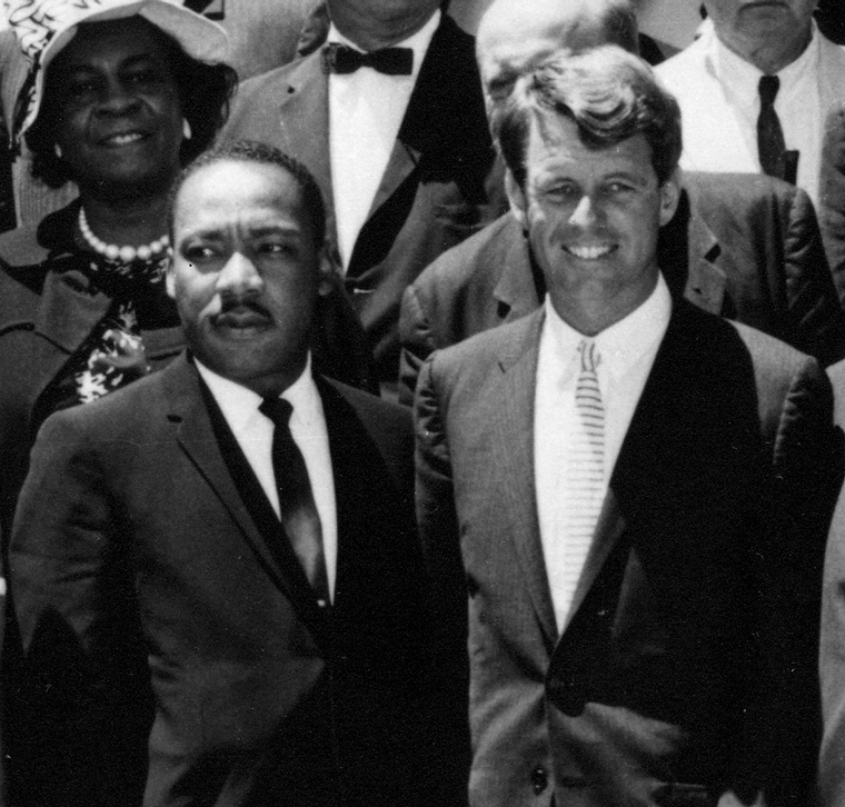 Martin Luther King, Junior and Robert F. Kennedy together in 1963.